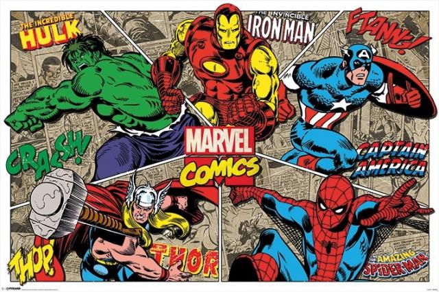 Hulk, Iron Man, Captain America, Thor and Spider-man Photo Credit: Marvel